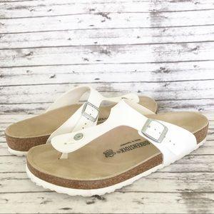 Birkenstock Gizeh White Sandals Size 44 EUC